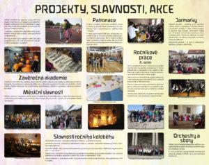 Projekty, slavnosti a akce