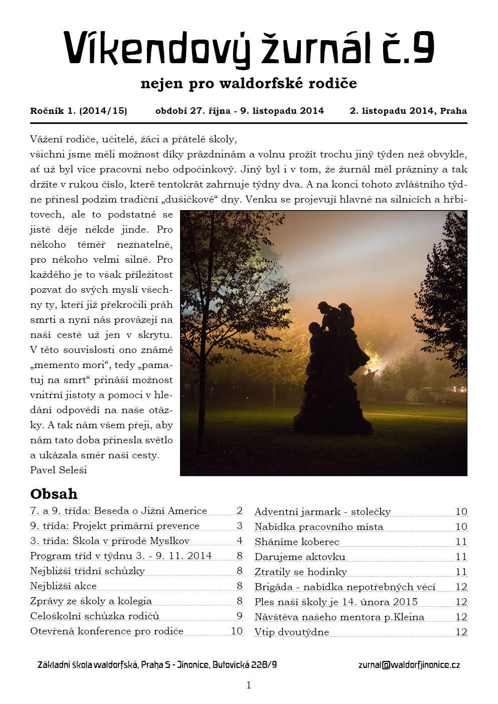 Žurnál číslo 9