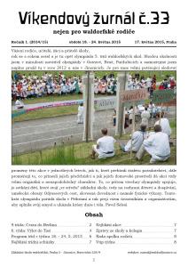 Vyšel Žurnál číslo 33