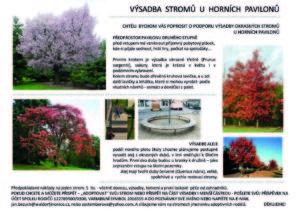 Sbírka pro stromy – projekt výsadby stromů