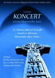 Bakalářský koncert PŘEDVELlKONOČNÍHO ČASU