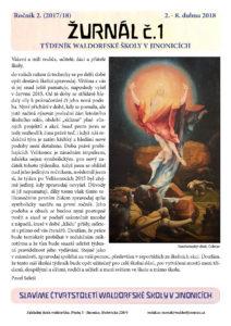 Vyšel Žurnál číslo 1 (ročník II.)