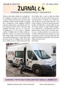 Vyšel Žurnál číslo 4 (23.-29.4.2018)