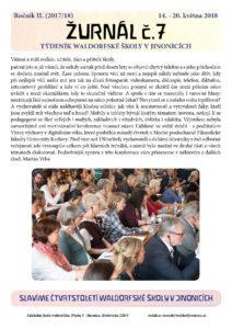 Vyšel Žurnál číslo 7 (14.-20.5.2018)