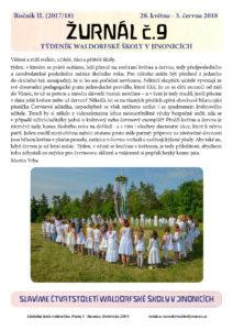 Vyšel Žurnál číslo 9 (28.5.-3.6.2018)