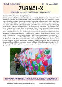 Vyšel Žurnál číslo 10 (18.-24.6.2018)
