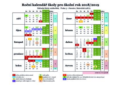 Kalendář školního roku 2018/19