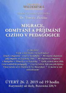 Přednáška Dr. Tomáše Zuzáka omigraci vúterý 26.února